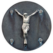 Old statue of Jesus crucified — Stock Photo