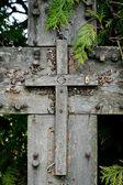 Dřevěný kříž — Stock fotografie