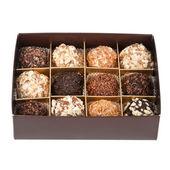 Handmade chocolates box — Stock Photo