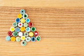 Colorful fir made from ceramic beads — Stockfoto