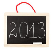 Number 2013 on small blackboard — 图库照片
