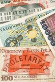 Old polish banknotes — Stock Photo