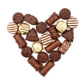 Heart from chocolate candies — Stock Photo