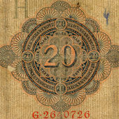 Part of expired german banknote — Stock Photo