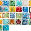 Handmade ceramic alphabet — Stock Photo #15946875