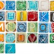 Stockfoto: Handmade ceramic alphabet