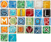 Handmade ceramic alphabet — Stock Photo