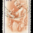 Indian post stamp - Lizenzfreies Foto