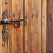 Stock Photo: Ancient door handle on old door