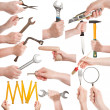 Royalty-Free Stock Photo: Hands with tools