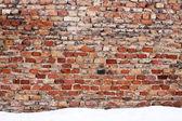レンガの壁と雪 — ストック写真