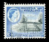 Rhodesian post stamp — Stock Photo