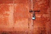 Grunge kovové dveře — Stock fotografie