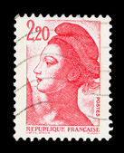 French post stamp — Stock Photo