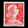 French post stamp - Stock Photo