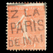 French post stamp - Stok fotoraf