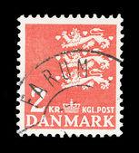 Danish post stamp — Stock Photo