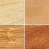Set of wood textures — Stock Photo