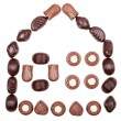 Stock Photo: House made of chocolate candies