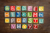 Handmade ceramic alphabet — Stockfoto