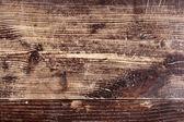 Vecchio graffiato piano tavolo rovere — Foto Stock