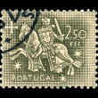 Portuguese post stamp - Stock Photo