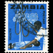 Post stamp of Zambia — Stock Photo