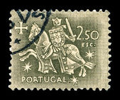 Portuguese post stamp — Stock Photo