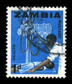 Timbro postale dello zambia — Foto Stock