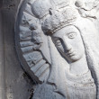 Bas relief of Virgin Mary — Stock Photo