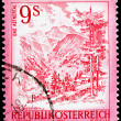 Austrian post stamp — Stock Photo