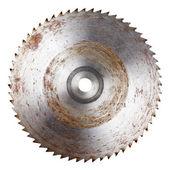 Old circular saw blade — Stock Photo