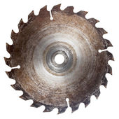 Old circular saw blade — Stock Photo