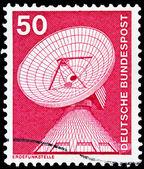 Pieczęć niemiecka poczta — Zdjęcie stockowe