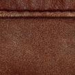 Seam on leather product — Stock Photo
