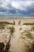 Stormy summer sea — Stock Photo