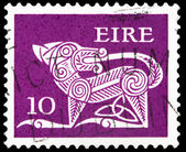 Post stamp from Ireland — Stock Photo