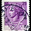 Italian post stamp — Stock Photo