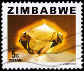 Post stamp from Zimbabwe — Stock Photo