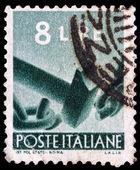 итальянский почтовому штемпелю — Стоковое фото