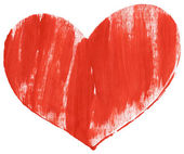 Red hand painted heart — Stock Photo