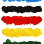 Colorful acrylic brush strokes — Stock Photo #34140605