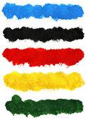 Colorful acrylic brush strokes — Foto Stock