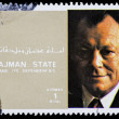 Post stamp from Ajman — Stock Photo