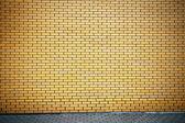 充满活力的黄砖壁 — 图库照片