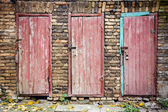 Doors in a wall — Stock Photo