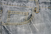 Grey jeans fabric with pocket   — 图库照片
