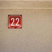Number 22 on a wall — Stock Photo