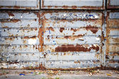 Old rusty metal wall — Stock Photo