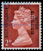 Briefmarke der post aus großbritannien — Stockfoto